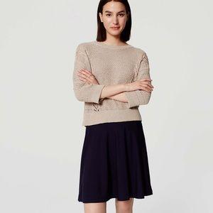 Loft knit circle skirt in navy